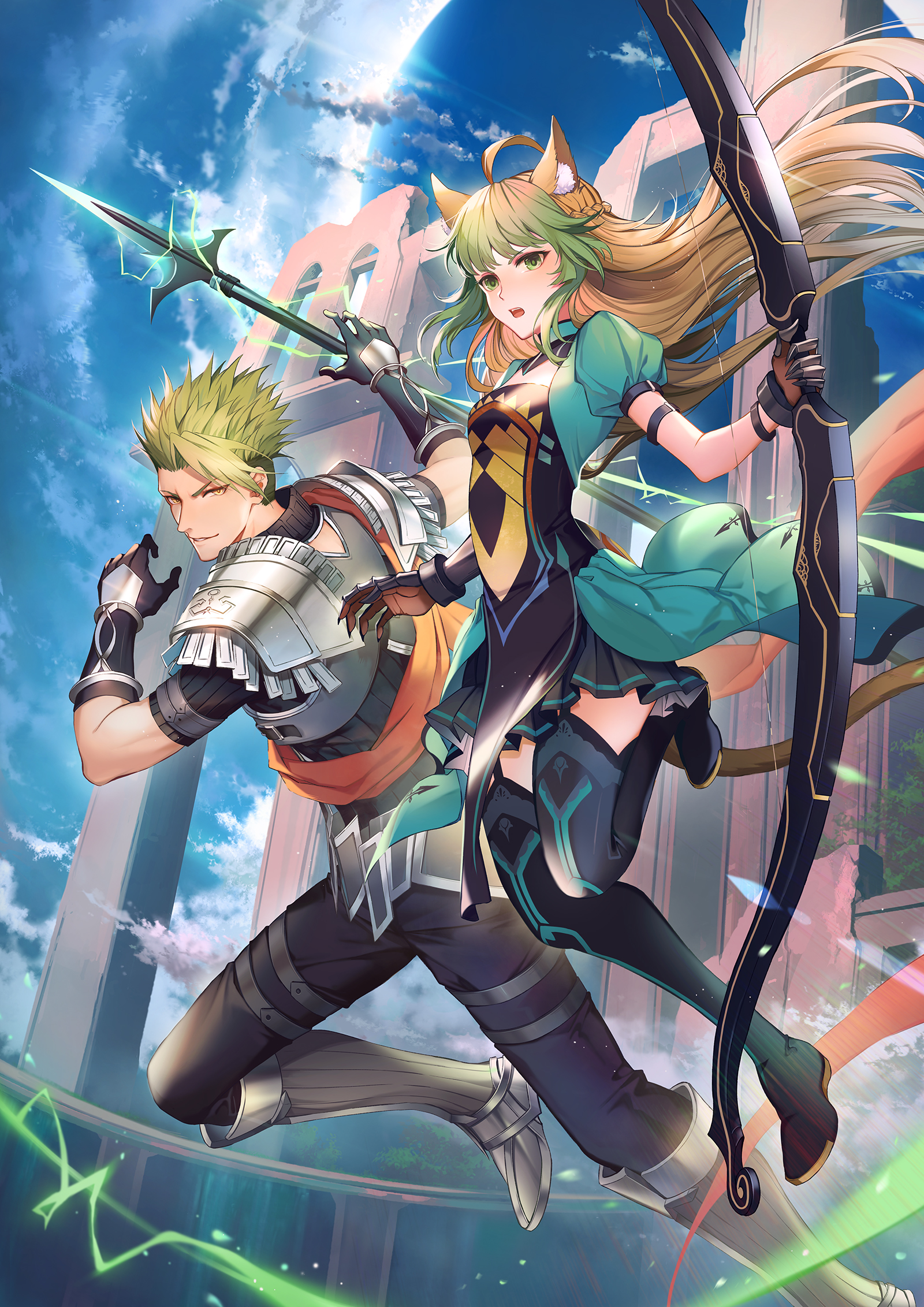 achilles and atalanta (fate/grand order and etc) drawn by ...