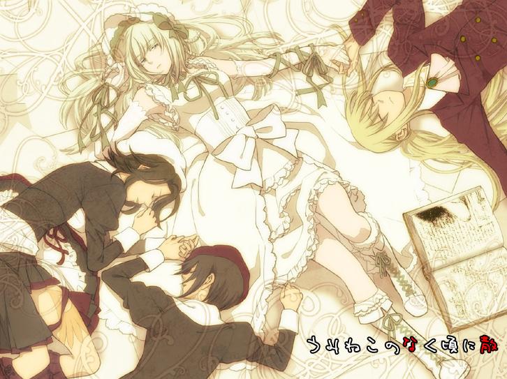 clair vaux bernardus, kanon, shannon, and ushiromiya lion (umineko no naku koro ni) drawn by kalnow