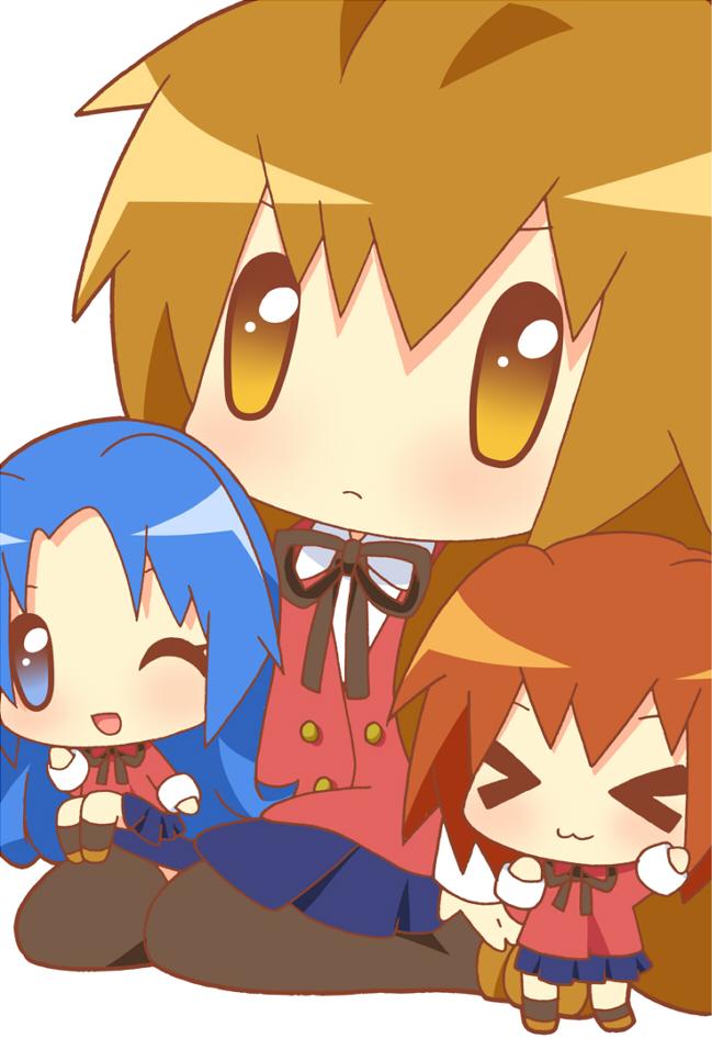 aisaka taiga, kawashima ami, and kushieda minori (toradora!) drawn by yuuto