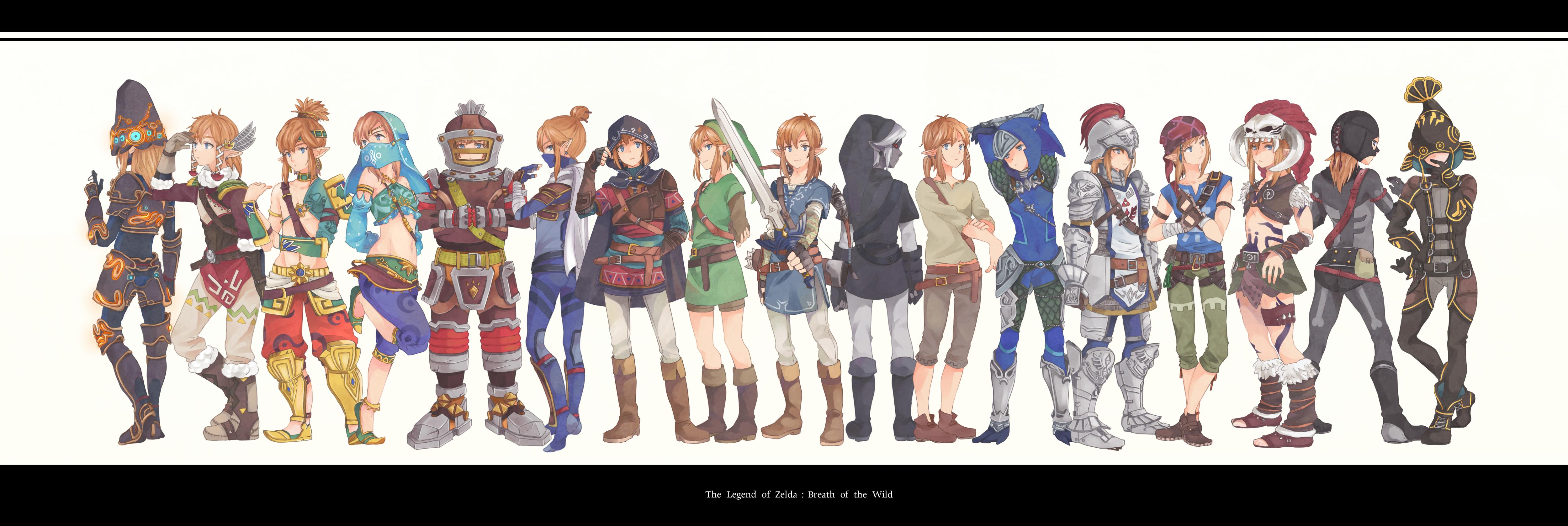Link Gerudo Link And Dark Link The Legend Of Zelda And 1 More Drawn By Aco Co0 Danbooru