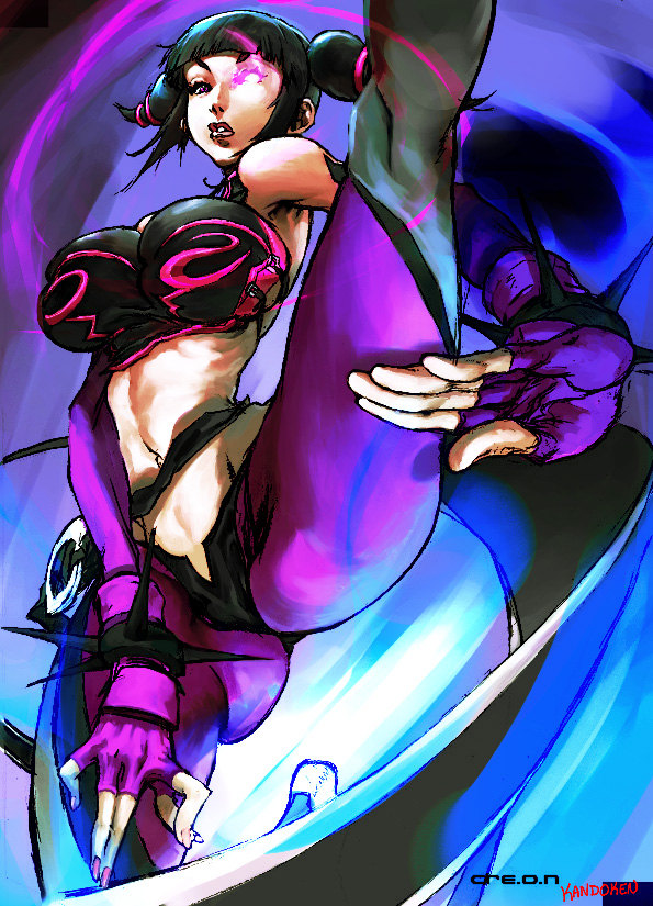 han juri (street fighter and street fighter iv (series)) drawn by lionel gerchel and steven mack