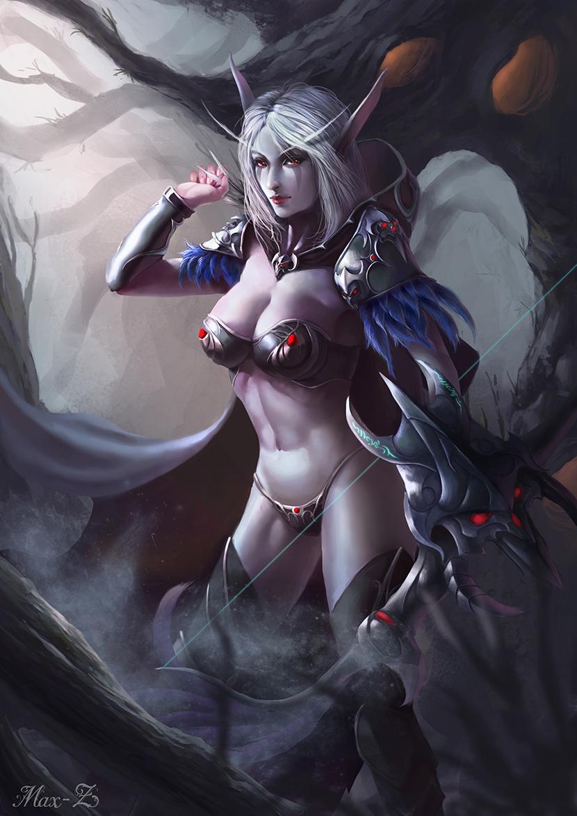 Naked world sylvanas of warcraft