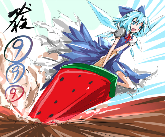 cirno (advent cirno and etc) drawn by eatbara