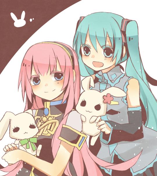 hatsune miku and megurine luka (vocaloid) drawn by utaori