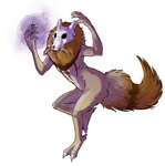 artist_request cubone fusion highres kadabra mane no_humans pokemon pokemon_(game) skull spoon tail