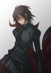 1boy artist_request cape code_geass evil_grin evil_smile geass grin lelouch_lamperouge male_focus manly non-web_source smile solo zero_(code_geass)