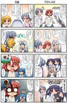 /\/\/\ 4koma 6+girls :d :o ^_^ animal_ears apron bangs black_dress black_pants black_skirt blank_eyes blonde_hair blue_eyes blue_hair blue_shirt blush bowing breasts brown_hair brown_shirt bun_cover catherine_(rakurakutei_ramen) closed_eyes collared_dress comic commentary_request cuey_c_lops cyclops double_bun dress emphasis_lines eyebrows_visible_through_hair eyepatch fangs fox_ears fox_girl fox_tail grey_hair hair_between_eyes hair_ornament hairclip high_ponytail japanese_clothes juliet_sleeves kagurazaki_shizuki kimono long_hair long_sleeves maid maid_apron maid_headdress medical_eyepatch miko multiple_4koma multiple_girls one-eyed one_side_up open_mouth original pants parted_bangs peeing peeing_self ponytail profile puffy_sleeves purple_hair purple_shirt rakurakutei_ramen ran_straherz red_eyes red_neckwear shaded_face shiraishi_sara shirt silver_hair skirt small_breasts smile smoke sweat tail translation_request trembling two_side_up ujikintoki_tamaryu very_long_hair white_apron white_kimono white_pants yellow_eyes