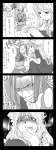 4koma anger_vein bad_id blush bow breasts chen comic covered_nipples crossover gagged hat highres monochrome multiple_tails nipples nude o_o rape_face shin_sangoku_musou sima_yi tail tied_up tongue touhou translated una_kata yakumo_ran yakumo_yukari you_gonna_get_raped zhang_he