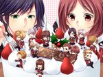 6+boys 6+girls ace_(fft-0) akademeia_uniform bangs black_hair blonde_hair blue_eyes blush braid brown_eyes brown_hair cake cape card cater_(fft-0) chocolate christmas christmas_cake cinque_(fft-0) deuce_(fft-0) drill_hair eight_(fft-0) everyone final_fantasy final_fantasy_type-0 fingerless_gloves flute food fork fruit glasses gloves green_eyes gun hair_over_one_eye holding instrument jack_(fft-0) jacket katana king_(fft-0) kunagiri_machina long_hair looking_at_viewer multiple_boys multiple_girls nine_(fft-0) open_mouth plaid plaid_skirt pleated_skirt ponytail queen_(fft-0) red_cape red_eyes red_hair scar scarf school_uniform scythe seven_(fft-0) short_hair sice_(fft-0) siempre silver_hair skirt smile solo strawberry sword thighhighs third-party_source tokimiya_rem trey_(fft-0) uniform weapon whip white_hair