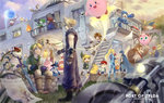 bag banner baseball_bat blonde_hair blue_eyes boarded_windows bowser breasts butterfly_net cape captain_falcon celebration charizard cloud_strife donkey_kong donkey_kong_(series) doubutsu_no_mori everyone f-zero fighting_stance final_fantasy final_fantasy_vii fire_emblem fox_mccloud game_&_watch gloves ground_vehicle hand_net hat holding holding_poke_ball instrument jewelry jigglypuff kid_icarus king_dedede kirby kirby_(series) link long_hair lucario lucas luigi lying mallet mario mario_(series) marth master_sword medium_breasts meta_knight metroid mother_(game) mother_2 mother_3 motor_vehicle motorcycle mr._game_&_watch multiple_boys multiple_girls my_unit_(fire_emblem:_kakusei) ness ocarina olimar on_side outdoors outstretched_hand pac-man pac-man_(game) pikachu pikmin_(creature) pikmin_(series) pit_(kid_icarus) poke_ball pokemon pokemon_(creature) ponytail princess_peach princess_zelda railing red_(pokemon) red_(pokemon)_(remake) rockman rockman_(character) rosetta_(mario) ryuu_(street_fighter) samus_aran scarf sheath sheathed shopping_bag sitting smile sonic sonic_the_hedgehog spiked_hair stairs star_fox street_fighter super_mario_bros. super_smash_bros. sword the_legend_of_zelda toon_link torch villager_(doubutsu_no_mori) warp_star weapon wii_fit wii_fit_trainer yoga yoshi zelda_c_wang zero_suit
