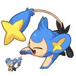 emererre fusion lowres no_humans pixelated pokemon pokemon_(game) shinx skitty