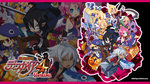 4boys 5girls akutare_(disgaea) black_hair black_legwear blue_eyes bow braid bright_pupils brown_eyes brown_hair choker closed_eyes copyright_name desco_(disgaea) disgaea emizel_(disgaea) facial_mark fenrich_(disgaea) fingerless_gloves fish flonne forehead_mark glasses gloves grey_hair guitar hair_bow hair_tubes harada_takehito hat highres hood instrument jacket kazamatsuri_fuuka long_hair makai_senki_disgaea_4 monster_girl multiple_boys multiple_girls nagi_clockwork official_art orange_eyes pants payot pink_hair pointy_ears prinny purple_hair red_eyes scythe shoes side_ponytail skirt smile tail tan thighhighs treasure_chest twintails valvatorez_(disgaea) vulcanus_(disgaea_4) wallpaper wand white_legwear wrench wrist_cuffs yellow_eyes zoom_layer