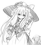 :< :d apron bat_wings bespectacled blush bow chibi cosplay crescent crescent_hair_ornament demon_tail dress_shirt embarrassed eyebrows_visible_through_hair glasses greyscale hair_between_eyes hair_ornament hair_ribbon hat hat_bow head_wings heart heart_eyes kirisame_marisa kirisame_marisa_(cosplay) koakuma long_hair long_sleeves looking_at_viewer mizuno_kurage monochrome necktie open_mouth patchouli_knowledge pointy_ears puffy_short_sleeves puffy_sleeves ribbon semi-rimless_eyewear shirt short_sleeves sidelocks simple_background skirt skirt_set smile tail touhou tress_ribbon upper_body very_long_hair waist_apron white_background white_shirt wings witch_hat