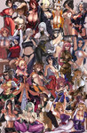 6+girls abs alcohol angel_(kof) annotated asuka_(senran_kagura) bare_shoulders bat_print beer beer_mug bikini bikini_under_clothes blazblue blonde_hair bonne_jenet breasts brown_hair busujima_saeko caster_(fate/extra) choker cleavage collage colored corset covered_nipples crossover detached_sleeves disgaea dress eu03 fatal_fury fate/extra fate_(series) final_fantasy final_fantasy_vii forehead_jewel goggles goggles_on_head green_hair highschool_of_the_dead huge_breasts idolmaster iroha_(samurai_spirits) justice_gakuen king_of_fighters kongiku koyori large_breasts leaning_forward long_hair mahou_shoujo_madoka_magica makai_senki_disgaea_2 makoto_nanaya maou_(maoyuu) maoyuu_maou_yuusha mark_of_the_wolves megurine_luka minazuki_kyouko miura_azusa momiji_(ninja_gaiden) morrigan_aensland multiple_crossover multiple_girls namco_x_capcom ninja_gaiden no_bra oboro_muramasa original pantyhose pink_hair pokemon pokemon_(game) print_legwear red_hair ribbed_sweater rozalin sagging_breasts samurai_spirits saya_(namco_x_capcom) scarf selvaria_bles sengoku_ace sengoku_blade senjou_no_valkyria senjou_no_valkyria_1 senran_kagura senran_kagura_(series) shirona_(pokemon) short_hair side-tie_bikini sideboob silver_hair skindentation soulcalibur squatting strapless_dress sweater sweater_vest swimsuit swimsuit_under_clothes taki_(soulcalibur) taneshima_popura tengen_toppa_gurren_lagann thighhighs tifa_lockhart tomoe_mami torn_clothes touhou trait_connection turtleneck underboob vampire_(game) vocaloid working!! yakumo_yukari yoko_littner yomako
