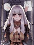 1girl boo closed_mouth epaulettes fire_emblem fire_emblem:_three_houses ghost long_hair long_sleeves lysithea_von_ordelia mario_(series) nyamuh pink_eyes tearing_up twitter_username uniform upper_body white_hair