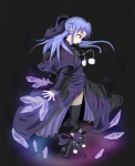 1girl blue_hair cat dual_persona half_updo len len_(cat) melty_blood nakaji4431 pointy_ears red_eyes thighhighs tsukihime