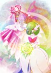 bouquet crystal diancie dress flower gardevoir highres mega_diancie mega_gardevoir mega_pokemon pokemon pokemon_(game) pokemon_xy tokiteto