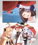 1boy 4girls a.i._channel ahoge arm_warmers ass azur_lane bangs bare_shoulders black_hair blonde_hair blue_eyes bow breasts cleavage collarbone commander_(azur_lane) dress gameplay_mechanics hairband hat huge_breasts japanese_clothes kimono kizuna_ai lace lace-trimmed_legwear lace-trimmed_sleeves long_hair low_twintails multicolored_hair multiple_girls panties phandit_thirathon photobomb pink_bow pink_hair pink_hairband pink_ribbon purple_hair red_dress red_eyes red_kimono ribbon sailor_collar shirt short_shorts shorts sleeveless sleeveless_shirt streaked_hair stuffed_alicorn stuffed_animal stuffed_toy swept_bangs taihou_(azur_lane) thighhighs trial_bullin_mkii_(azur_lane) twintails two-tone_hair underwear unicorn_(azur_lane) very_long_hair virtual_youtuber white_sailor_collar white_shorts x_anus youtube