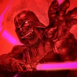 1boy angry armor blood cape commentary_request crazy_eyes cyborg darth_vader energy_sword gloves helmet horror_(theme) igunuk insane lightsaber looking_at_viewer male_focus realistic red rogue_one:_a_star_wars_story science_fiction sith solo spoilers star_wars sword weapon you_gonna_get_raped