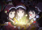 3girls :d :o akiyama_mio amagi_brilliant_park animal_costume antlers badge bangs bare_shoulders bell bird black_eyes black_hair blue_eyes blunt_bangs box button_badge character_doll chitanda_eru christmas christmas_ornaments christmas_tree chuunibyou_demo_koi_ga_shitai! commentary company_connection crossover dera_mochimazzui detached_sleeves double_bass dragon_tail euphonium eyebrows_visible_through_hair eyepatch fake_antlers fake_nose food free! gift glasses hair_ornament hairpin hat hibike!_euphonium hime_cut hirasawa_yui hyouka instrument ishida_shouya iwatobi-chan k-on! kanna_kamui kitashirakawa_tamako kobayashi-san_chi_no_maidragon koe_no_katachi kotobuki_tsumugi kyoto_animation kyoukai_no_kanata light_rays low_twintails macaron moffle multiple_girls musaigen_no_phantom_world nakano_azusa nichijou ooji_mochizou open_mouth oreki_houtarou out_of_frame purple_eyes red_nose red_ribbon reindeer_antlers reindeer_costume ribbon sakamoto_(nichijou) santa_costume santa_hat scarf school_uniform smile stuffed_animal stuffed_toy tail tainaka_ritsu tamako_market teddy_bear tiramii tooru_(maidragon) trombone trumpet ttc tuba twintails yakiimo_(kyoukai_no_kanata)