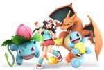 1girl absurdres bag blue_(pokemon) blue_tank_top brown_hair charizard fire flower full_body gen_1_pokemon hat highres huge_filesize ivysaur leg_warmers long_hair looking_at_viewer miniskirt nintendo official_art open_mouth poke_ball pokemon pokemon_(creature) pokemon_(game) pokemon_frlg pose red_skirt shell shoes skirt sleeveless smile sneakers solo squirtle super_smash_bros. super_smash_bros._ultimate tail tank_top tentacles transparent_background wings