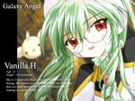 1girl artist_request bespectacled character_name engrish galaxy_angel glasses green_hair long_hair profile ranguage solo vanilla_h wallpaper