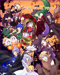 6+boys 6+girls animal_ears axe bandages bare_shoulders basket black_hair blonde_hair blood blush book breasts cape choker cleavage costume dark_pit doubutsu_no_mori dr._mario dress dual_persona earrings eating eggplant english facial_hair fake_animal_ears fake_tail fang fire_emblem fire_emblem:_akatsuki_no_megami fire_emblem:_kakusei firmicus food frankenstein's_monster green_hair hairband halloween halloween_costume hat head_mirror highres hockey_mask ice_climber ike jack-o'-lantern jewelry kid_icarus kid_icarus_uprising link long_hair looking_at_viewer luigi mario mask meat medicine multiple_boys multiple_girls mummy mustache my_unit nana_(ice_climber) open_mouth palutena pipe pit_(kid_icarus) pointy_ears ponytail popo_(ice_climber) princess_peach princess_zelda pumpkin shaded_face short_hair smile star stitches super_mario_bros. super_smash_bros. sweatdrop the_legend_of_zelda vampire_costume villager_(doubutsu_no_mori) warp_pipe weapon werewolf white_hair witch witch_hat