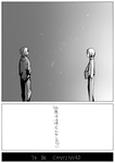 2boys comic greyscale kaname_tatsuya kurono_yuu kyubey mahou_shoujo_madoka_magica monochrome multiple_boys personification teenage translated