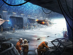 6+boys aircraft canopy energy_cannon engineer flying gloves hangar helmet hoth ice mark_molnar motion_blur multiple_boys pilot_suit realistic rebel_alliance rebel_pilot science_fiction snowspeeder space_craft star_wars starfighter t-65_x-wing x-wing
