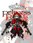 1girl blonde_hair blue_eyes copyright_name dual_wielding grimm's_fairy_tales gun highres hood little_red_riding_hood long_hair machine_gun magazine_(weapon) page princess_royale solo trigger_discipline twintails weapon