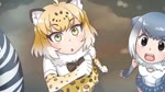 3girls animated bare_shoulders bow bowtie elbow_gloves eyebrows_visible_through_hair fingerless_gloves fur_collar gloves jaguar_(kemono_friends) jaguar_ears jaguar_print kemono_friends miyase_(artist115091) mp4 multicolored_hair multiple_girls o_o one-piece_swimsuit open_mouth otter_ears plains_zebra_(kemono_friends) skirt small-clawed_otter_(kemono_friends) snow swimsuit thighhighs video_with_sound