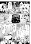1boy 4girls :o astolfo_(fate) bangs blush breastplate cape chibi cloak closed_eyes closed_mouth collared_dress comic emphasis_lines eyebrows_visible_through_hair fate/grand_order fate_(series) flying_sweatdrops fur-trimmed_cape fur-trimmed_cloak fur_trim glasses greyscale hair_between_eyes hair_over_one_eye hands_up headpiece high_ponytail holding hood hood_down hooded_jacket jacket jeanne_d'arc_(alter)_(fate) jeanne_d'arc_(fate)_(all) long_hair long_sleeves mash_kyrielight monochrome mordred_(fate) mordred_(fate)_(all) multicolored_hair multiple_girls necktie open_clothes open_jacket open_mouth parted_bangs ponytail profile rioshi streaked_hair tomoe_gozen_(fate/grand_order) translation_request trembling v-shaped_eyebrows wavy_mouth