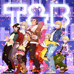 2girls 6+boys antonio_lopez barnaby_brooks_jr gum_(gmng) highres huang_baoling ivan_karelin kaburagi_t_kotetsu karina_lyle keith_goodman multiple_boys multiple_girls nathan_seymour neon_lights tiger_&_bunny