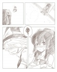 2girls ao_usagi bad_end blush comic greyscale hakurei_reimu kirisame_marisa monochrome multiple_girls silent_comic touhou