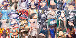 6+girls 7th_dragon annotated bare_shoulders beryl_(shinrabanshou) borrowed_character breasts caren_hortensia close-up collage competition_swimsuit corn crop_top digimon digimon_world_re:digitize dizzy dokurohime double_v fate/hollow_ataraxia fate_(series) fate_testarossa guilty_gear head_out_of_frame highres impossible_clothes impossible_shirt kamio_yume kantai_collection lyrical_nanoha mahou_shoujo_lyrical_nanoha megurine_luka menokuma menou_kaname metroid midriff multiple_girls nagato_(kantai_collection) navel nemurime off_shoulder one-piece_swimsuit original panties panty_lift pantyhose popsicle samurai_(7th_dragon) samus_aran seaport_hime shimakaze_(kantai_collection) shinkaisei-kan shinomiya_rina shinrabanshou shirt_lift swimsuit ta-class_battleship taishi_(picchiridou) thighhighs underwear upskirt v vocaloid wet wet_clothes wii_fit wii_fit_trainer wo-class_aircraft_carrier zero_suit