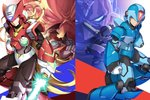 6+boys albert_w_wily android arm_cannon bald blonde_hair blue_eyes colonel commentary_request energy_sword facial_hair gloves green_eyes grin helmet highres holding holding_weapon jie_laite long_hair male_focus multiple_boys mustache red_eyes rockman rockman_x scar scar_across_eye serious shoulder_cannon sigma smile sword vava very_long_hair weapon white_gloves x_(rockman) zero_(rockman)