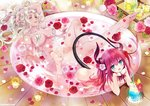 2girls :d ass asymmetrical_horns barefoot bath bathing bathtub bendy_straw blue_eyes blush breasts candle carmilla_(fate/grand_order) carnelian chin_rest commentary_request cup curled_horns curly_hair dragon_girl dragon_horns dragon_tail drinking_glass drinking_straw elizabeth_bathory_(fate) elizabeth_bathory_(fate)_(all) fate/extra fate/extra_ccc fate/grand_order fate_(series) feet flower food hair_flower hair_ornament hair_over_breasts horns ice_cream ice_cream_float interlocked_fingers leg_up long_hair looking_at_viewer multiple_girls navel nude open_mouth petals petals_on_liquid pink_flower pink_hair pink_rose pointy_ears red_flower red_hair red_rose rose rose_petals shared_bathing small_breasts smile solo_focus tail two_side_up water white_flower white_hair white_rose yellow_eyes