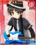 1boy brown_eyes brown_hair detached_sleeve electric_guitar guitar hat ikeda_jun_(aquaqua) instrument little_busters! naoe_riki necktie short_hair vest wristband