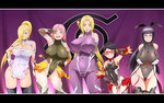 5girls age_difference areola_slip areolae arm_up armor armpits ass_visible_through_thighs bangs bare_shoulders black_eyes black_gloves black_hair black_legwear black_leotard black_ribbon blonde_hair blue_eyes blush bodysuit boruto:_naruto_next_generations breast_hold breasts breasts_apart cameltoe cleavage cleavage_cutout closed_mouth collarbone commentary_request contrapposto cosplay covered_collarbone covered_navel covered_nipples cowboy_shot crossed_arms curvy diamond_(shape) earrings embarrassed facial_mark faulds fingerless_gloves fishnets forehead_mark frills fur_trim glasses gloves green_eyes grin groin groin_tendon hair_ornament hair_over_one_eye hair_ribbon hair_tie hairclip halterneck hand_on_hip happy haruno_sakura high_ponytail highleg highleg_leotard highres hip_bones hip_vent hips hyuuga_hinata igawa_asagi igawa_asagi_(cosplay) igawa_sakura igawa_sakura_(cosplay) impossible_bodysuit impossible_clothes impossible_leotard jewelry konohagakure_symbol large_breasts leaning_to_the_side legs_apart legs_together leotard letterboxed lineup lipstick logo long_hair long_ponytail looking_at_viewer low_twintails makeup mature microskirt mizuki_shiranui mizuki_shiranui_(cosplay) mizuki_yukikaze mizuki_yukikaze_(cosplay) mother_and_daughter multiple_girls naruto ninja one_eye_closed one_eye_covered orange_skirt parted_bangs pelvic_curtain pink_hair pink_lipstick pink_ribbon pleated_skirt ponytail puffy_nipples purple_background purple_bodysuit purple_eyes purple_gloves raised_eyebrows red-framed_eyewear ribbon sagging_breasts sheath sheathed shiny shiny_clothes shiny_hair shiny_skin short_hair showgirl_skirt sidelocks skin_tight skirt small_breasts smile spaulders standing straight_hair stud_earrings sunahara_wataru sweatdrop swept_bangs sword sword_behind_back taimanin_(series) taimanin_asagi taimanin_suit taimanin_yukikaze taut_clothes thigh_gap thighhighs thighs tongue tsunade turtleneck twintails uchiha_sarada v v_over_eye vambraces very_long_hair weapon weapon_on_back white_gloves wide_hips yamanaka_ino yatsu_murasaki yatsu_murasaki_(cosplay) yellow_eyes