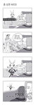 4koma alvor artist_request comic cosplay hatsune_miku hatsune_miku_(cosplay) highres korean monochrome the_elder_scrolls the_elder_scrolls_v:_skyrim translated truth vocaloid