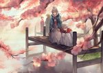 1girl 3boys anocurry brother_and_sister brothers brown_hair cherry_blossoms fire_emblem fire_emblem_heroes fire_emblem_if fish flower grey_hair hair_flower hair_ornament hinoka_(fire_emblem_if) japanese_clothes kimono kneeling koi lake male_my_unit_(fire_emblem_if) multiple_boys my_unit_(fire_emblem_if) pier pointy_ears ponytail red_eyes red_hair ryouma_(fire_emblem_if) siblings silver_hair smile spiked_hair takumi_(fire_emblem_if) tree