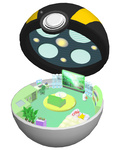 1girl bed book bookshelf cabinet chair computer couch gen_1_pokemon joy_(pokemon) minimized open_poke_ball pikachu plant poke_ball pokemon pokemon_(creature) potted_plant robot room ruun_(abcdeffff) television ultra_ball