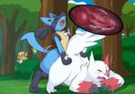 eroboros furry knot knotted_penis lucario pokemon pokemon_(creature) raichu vaginal zangoose