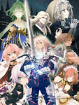 3girls 6+boys armor armored_dress astolfo_(fate) avicebron_(fate) balmung_(fate/apocrypha) bandages bangs bare_shoulders black_legwear black_ribbon blonde_hair blue_eyes breasts bridal_veil brown_hair cape capelet chain chiron_(fate) cloak closed_eyes elbow_gloves eyebrows_visible_through_hair fang fate/apocrypha fate_(series) frankenstein's_monster_(fate) gauntlets gloves green_eyes hair_ornament hair_over_eyes hair_ribbon headpiece holding holding_knife holding_sword holding_weapon horn jack_the_ripper_(fate/apocrypha) jeanne_d'arc_(fate) jeanne_d'arc_(fate)_(all) knife konoe_ototsugu large_breasts long_hair looking_at_viewer mask multicolored_hair multiple_boys multiple_girls official_art pink_eyes pink_hair pout purple_eyes red_eyes ribbon scar short_hair sieg_(fate/apocrypha) siegfried_(fate) silver_hair sword two-tone_hair veil very_long_hair vlad_iii_(fate/apocrypha) weapon white_gloves white_ribbon yellow_eyes