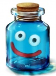 bottle bubble cork creature dragon_quest glass jar matsuda_suzuri no_humans slime slime_(dragon_quest) smile