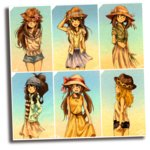 6+girls ;d adapted_costume arm_behind_back arm_up arms_behind_back baseball_cap black_shorts blonde_hair blouse blue_(pokemon) blue_shorts blue_skirt blush brown_eyes brown_hair character_name closed_mouth collarbone dress hair_between_eyes hand_in_pocket hand_on_headwear haruka_(pokemon) hat head_tilt high_ponytail highres hikari_(pokemon) holding hood hooded_jacket jacket long_hair long_skirt looking_at_viewer matsuri_(matsuike) mei_(pokemon) multiple_girls one_eye_closed open_clothes open_jacket open_mouth photo_(object) plant pokemon profile puffy_short_sleeves puffy_sleeves serena_(pokemon) shirt short_sleeves shorts skirt skirt_hold sleeveless sleeveless_dress sleeveless_shirt smile striped striped_shirt sun_hat tied_shirt touko_(pokemon) twintails very_long_hair white_shirt wind