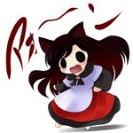 1girl :3 animal_ears brown_hair chibi dress highres imaizumi_kagerou solo tail touhou wolf_ears yume_shokunin