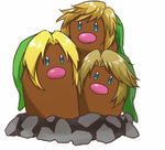 alolan_dugtrio annotated aqua_eyes bangs beanie blonde_hair commentary commentary_request creature dugtrio fusion green_hat hat link looking_at_viewer looking_away lowres multiple_persona no_humans parted_bangs pokemon pokemon_(creature) rophy sidelocks simple_background solo swept_bangs the_legend_of_zelda the_legend_of_zelda:_ocarina_of_time the_legend_of_zelda:_skyward_sword the_legend_of_zelda:_twilight_princess white_background