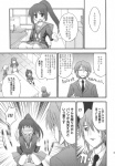 !! !? 1boy 3girls asahina_mikuru comic genderswap highres k_hiro koizumi_itsuki kyon kyonko monochrome multiple_girls nagato_yuki panties ponytail suzumiya_haruhi_no_yuuutsu translated underwear