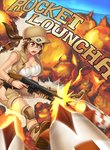 1girl :o >:o bare_shoulders baseball_cap beach blue_sky breasts brown_eyes brown_hair brown_shorts brown_vest cleavage commentary day engrish explosion fio_germi firing gameplay_mechanics glasses gun hat hip_vent holding holding_gun holding_weapon horizon hybridmink knee_pads large_breasts long_hair looking_away machine_gun metal_slug ocean open_clothes open_mouth open_vest ponytail ranguage rimless_glasses rocket shorts sky solo vest weapon wristband
